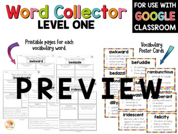 Vocabulary Activities: Fancy Words for 3rd-6th Grade