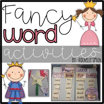 Fancy Word Activities