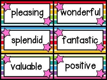 Fancy Synonym Word Wall