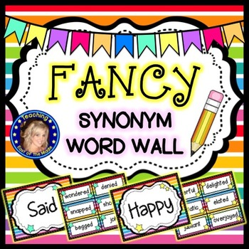 Fancy Synonym Word Wall