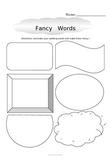 Fancy Words Spelling Practice FREEBIE
