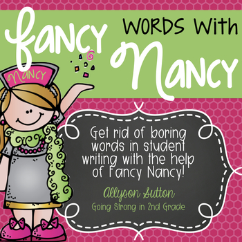 Fancy Words with Nancy Poster Pack - Get rid of boring words!