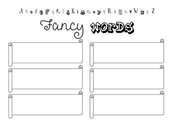 Fancy Words wordwork