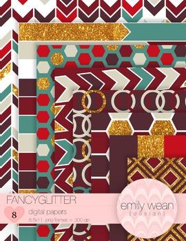 FancyGlitter Digital Papers