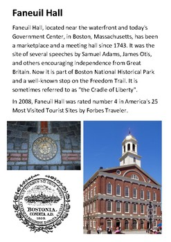 Faneuil Hall Handout with activities