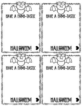Fang-Tastic Halloween Tags