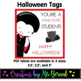 Fang-tastic Halloween Labels | Halloween Tags