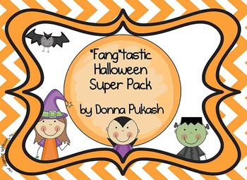 """Fang""tastic Halloween Super Pack-reading, writing, science and math"
