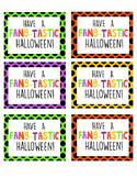 Fangtastic Halloween gift tag printable