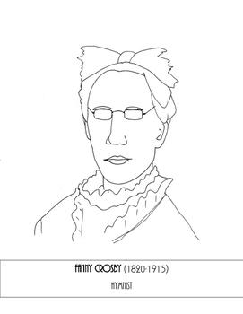 Fanny Crosby Coloring Page
