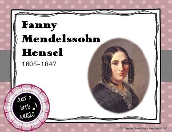 Fanny Mendelssohn - her life and music PPT