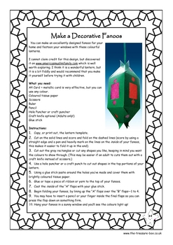 Fanoos ~ Ramadan Islamic lanterns info. guide and craft activities