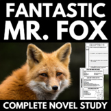Fantastic Mr. Fox Novel Study Literature Guide Unit