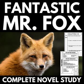 Fantastic Mr. Fox Novel Study Literature Guide Unit