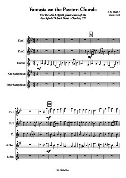 Fantasia on the Passion Chorale - Mixed Woodwind Group Sheet Music