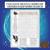 Fantastic Beasts The Crimes of Grindelwald Word Search
