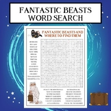 Fantastic Beasts and Where to Find Them Word Search