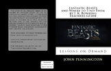 Fantastic Beasts and Where to Find Them by J. K. Rowling Teachers Guide