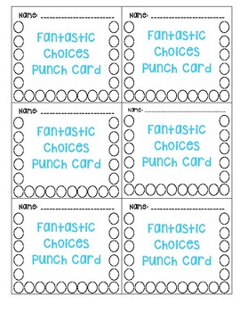 Fantastic Choices Punch Card