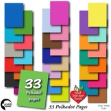33 POLKADOT Colors Bundle Papers,Tone on Tone {Best Teacher Tools} AMB-1892