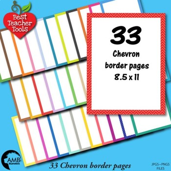 33 Chevron Border Tone on Tone Papers {Best Teacher Tools} AMB-1901