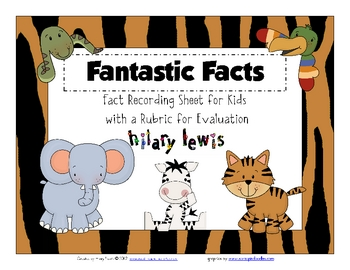 Fantastic Facts FREEBIE with Rubric