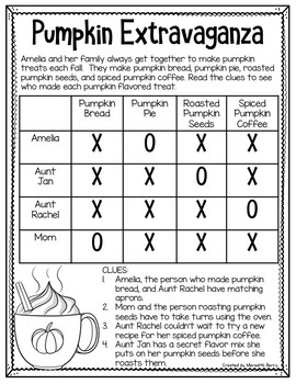 Fantastic Fall Beginner Logic Puzzles
