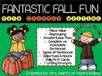 Fantastic Fall Fun (Centers, Writing, Math, Language Arts, & MORE!)