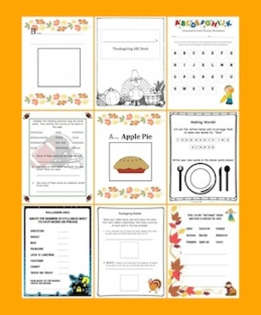 Thanksgiving & Fall Literacy Activities