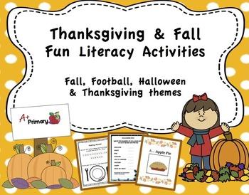 Thanksgiving & Fall Literacy Activities