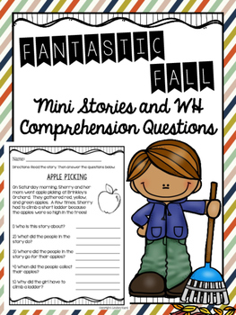 Fantastic Fall Mini Stories and WH Comprehension Questions