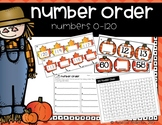 Numbers Order Numbers 1 to 120  (Common Core 1.NBT.1)