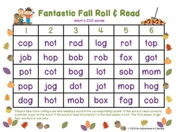 Fantastic Fall Roll & Read Bonus Pack-26 games