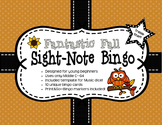Fantastic Fall Sight Note Bingo: Treble Staff