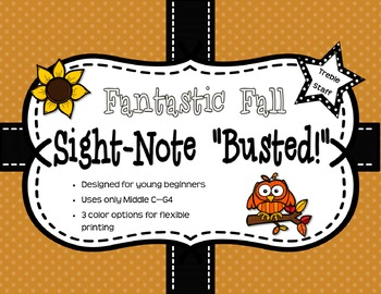 "Fantastic Fall Sight-Note ""Busted"" - Treble Staff"
