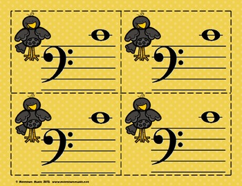 Fantastic Fall Sight-Note Flashcards: Bass Staff