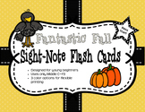 Fantastic Fall Sight-Note Flashcards: Bass Staff