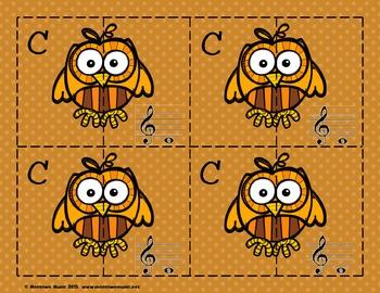 Fantastic Fall Sight-Note Matching Puzzles
