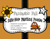 Fantastic Fall Sight-Note Matching Puzzles