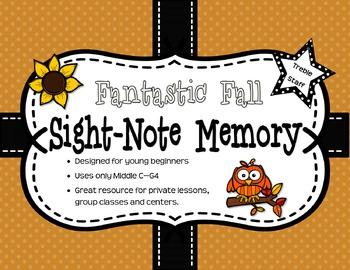 Fantastic Fall Sight Note Memory: Treble Staff