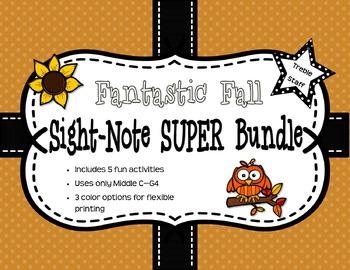 Fantastic Fall Sight Note Super Bundle: Treble Staff