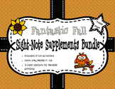 Fantastic Fall Sight Note Supplement Bundle: Treble Staff