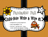 Fantastic Fall Sight-Note Write & Wipe #2: Treble Staff
