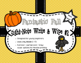 Fantastic Fall Sight-Note Write & Wipe Worksheets #2 - Bass Staff