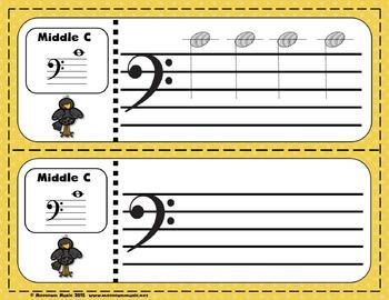 Fantastic Fall Sight-Note Write & Wipe Worksheets #4 - Bass Staff