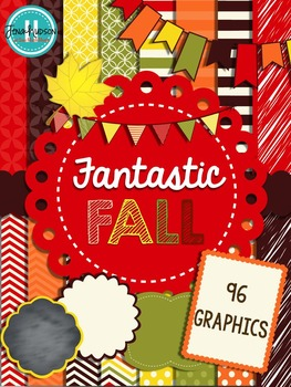 Fantastic Fall ~ digital papers, accents and clipart