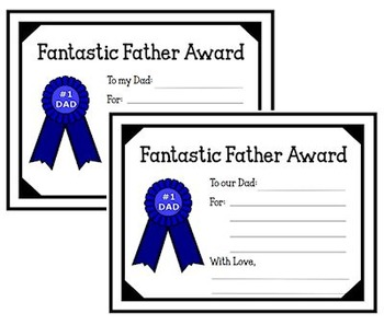 Fantastic Father Award (Father's Day)