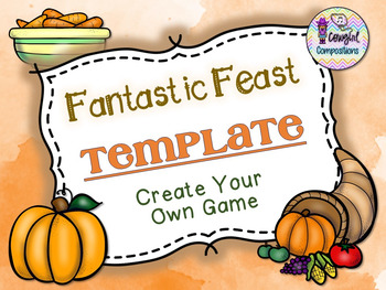 Fantastic Feast Template  - Create Your Own Game