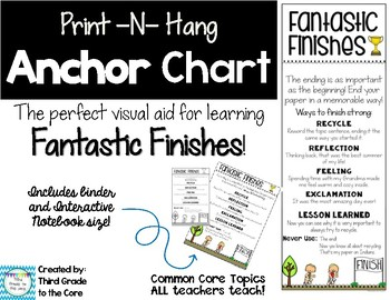 Fantastic Finishes Anchor Chart