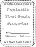 Fantastic First Grade Memory Book